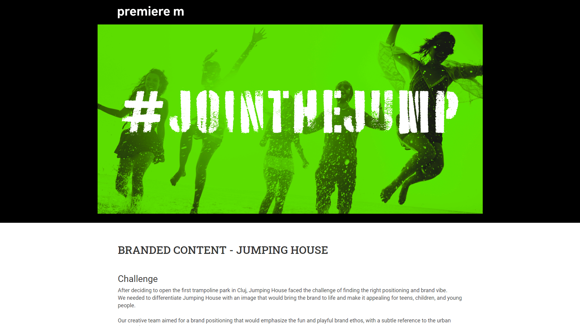 BRANDED CONTENT – JUMPING HOUSE